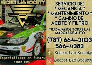 SECRET LAB SOCIETY (Los Expertos en Subaru)
